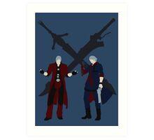 Dante & Nero Art Print