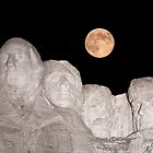 Blue moon over Mount Rushmore National Memorial by Alex Preiss