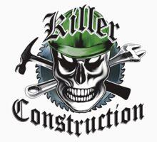 Construction Skull: Killer Construction Yellow 4.1 Kids Clothes