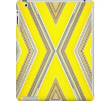 yellow diagonal stripe pattern iPad Case/Skin