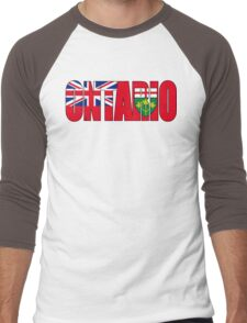 Ontario Flag Men's Baseball ¾ T-Shirt