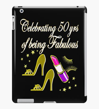 GORGEOUS GOLD 50TH BIRTHDAY DESIGN iPad Case/Skin