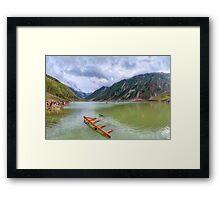 Saiful Muluk Lake Framed Print