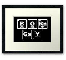 Born Gay - Periodic Table Framed Print