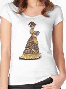 Library Witch by Bobbie Berendson W Women's Fitted Scoop T-Shirt