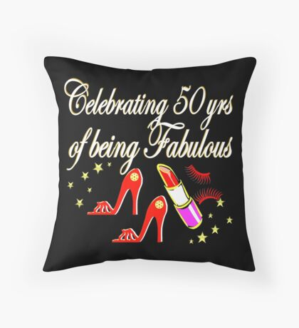 FABULOUS 50TH BIRTHDAY DIVA DESIGN Throw Pillow