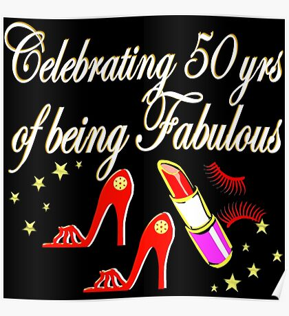 FABULOUS 50TH BIRTHDAY DIVA DESIGN Poster