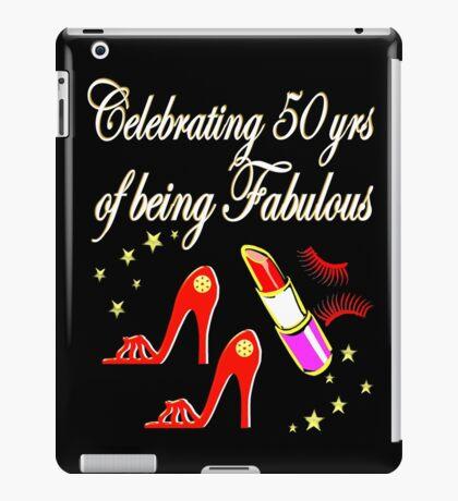 50TH BIRTHDAY RED HIGH HEEL DESIGN iPad Case/Skin