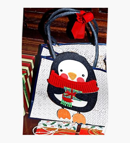 Penguin gift decoration Poster