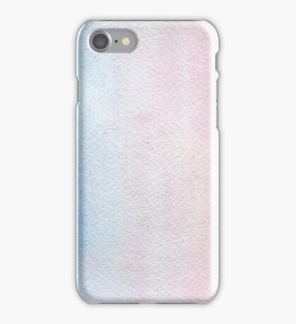 Watercolor texture light blue and pink iPhone Case/Skin