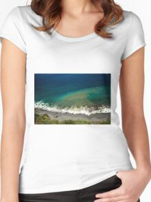 Ocean's Breeze - Nature Photography Women's Fitted Scoop T-Shirt