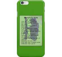 Murphy was a grunt, by Tim Constable iPhone Case/Skin