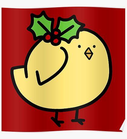 Fat Holly Bird Poster