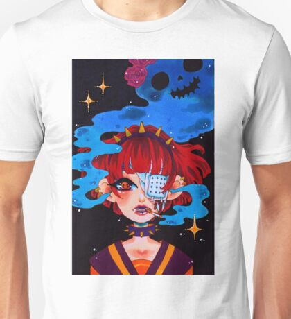 Ghoul Girl - smoke Unisex T-Shirt