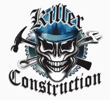 Construction Skull: Killer Construction Blue 1.1 Kids Clothes
