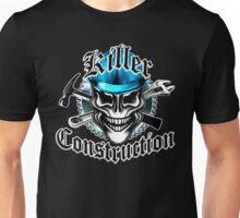 Construction Skull: Killer Construction Blue 1.1 Unisex T-Shirt