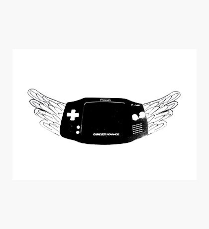 Winged Gameboy Advance Photographic Print