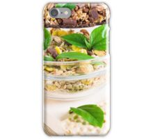 Chocolate bar with muesli and flakes  iPhone Case/Skin