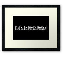 Technophobe - Periodic Table Framed Print