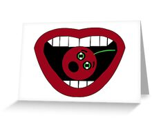 Funny Cherry Greeting Card