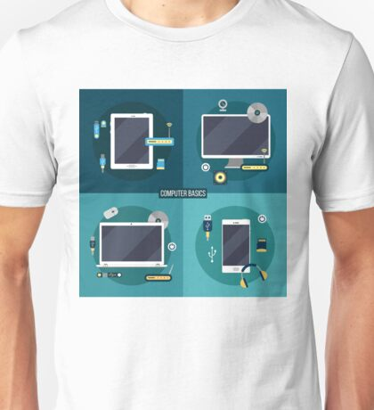 Computer and Electronic Basics: Laptop, Computer, Smart Phone, Tablet and Accessories Unisex T-Shirt
