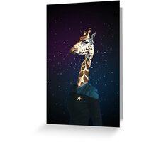 Enterprising Giraffe Greeting Card