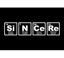 Sincere - Periodic Table Photographic Print