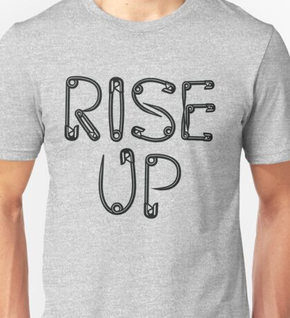 RISE UP safety pin Unisex T-Shirt