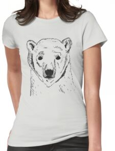 Bare Polar Bear Womens Fitted T-Shirt