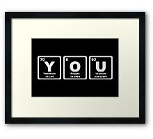 You - Periodic Table Framed Print
