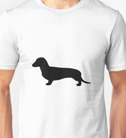 Louie The Dachshund | Black Unisex T-Shirt