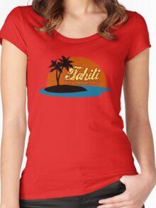 Tahiti Women's Fitted Scoop T-Shirt