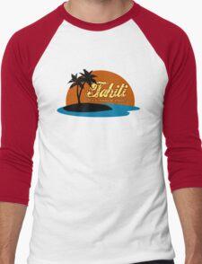 Tahiti Men's Baseball ¾ T-Shirt