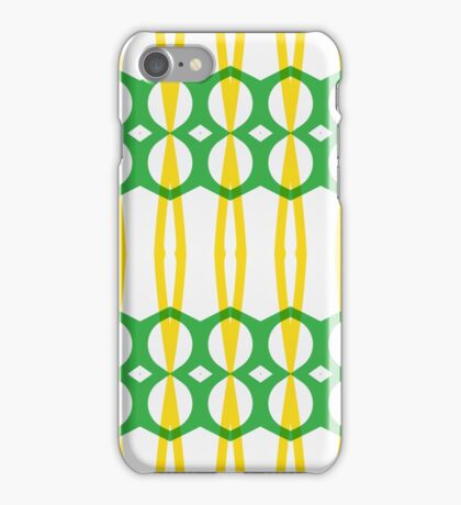 Green yellow shapes iPhone Case/Skin