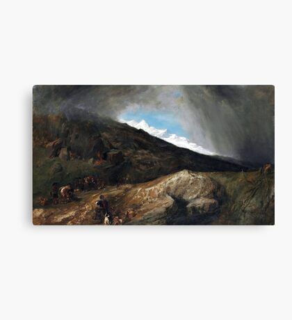 William Stanfield Mountainous Landscape Travelers Canvas Print