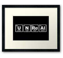 Unreal - Periodic Table Framed Print