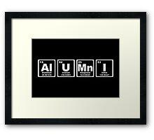 Alumni - Periodic Table Framed Print