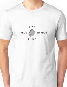 Stay True to Your Shelf - Grey with Salmon Unisex T-Shirt