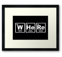 Where - Periodic Table Framed Print