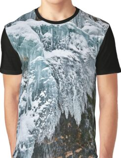 Frozen waterfall in the winter Graphic T-Shirt