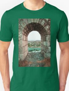 Castle Window - Travel Photography Unisex T-Shirt