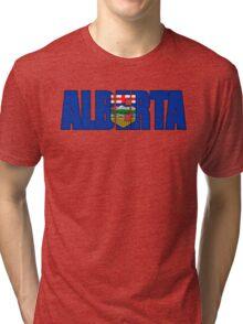 Alberta Canada Flag Tri-blend T-Shirt
