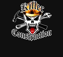 Construction Skull 2 with Crossed Tools Gold Unisex T-Shirt