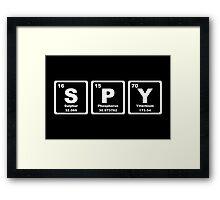 Spy - Periodic Table Framed Print