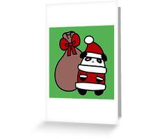 Santa Claus Panda Greeting Card