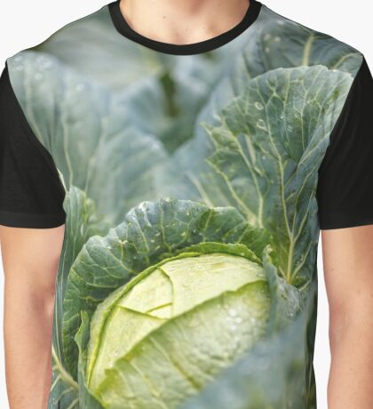 White cabbage in the garden, after rain Graphic T-Shirt
