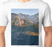 Panorama of mountain peaks Unisex T-Shirt
