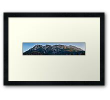 Panorama of mountain peaks Framed Print