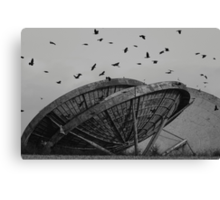 Abandoned Alien Space Craft Canvas Print