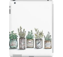 Herbs in Vintage Tins iPad Case/Skin